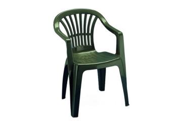 sedia-resina-verde